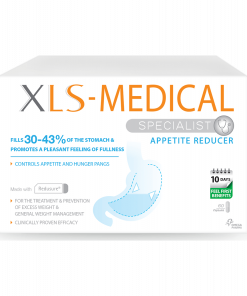 A pack of XLS Medical Appetite Reducer 60 capsules